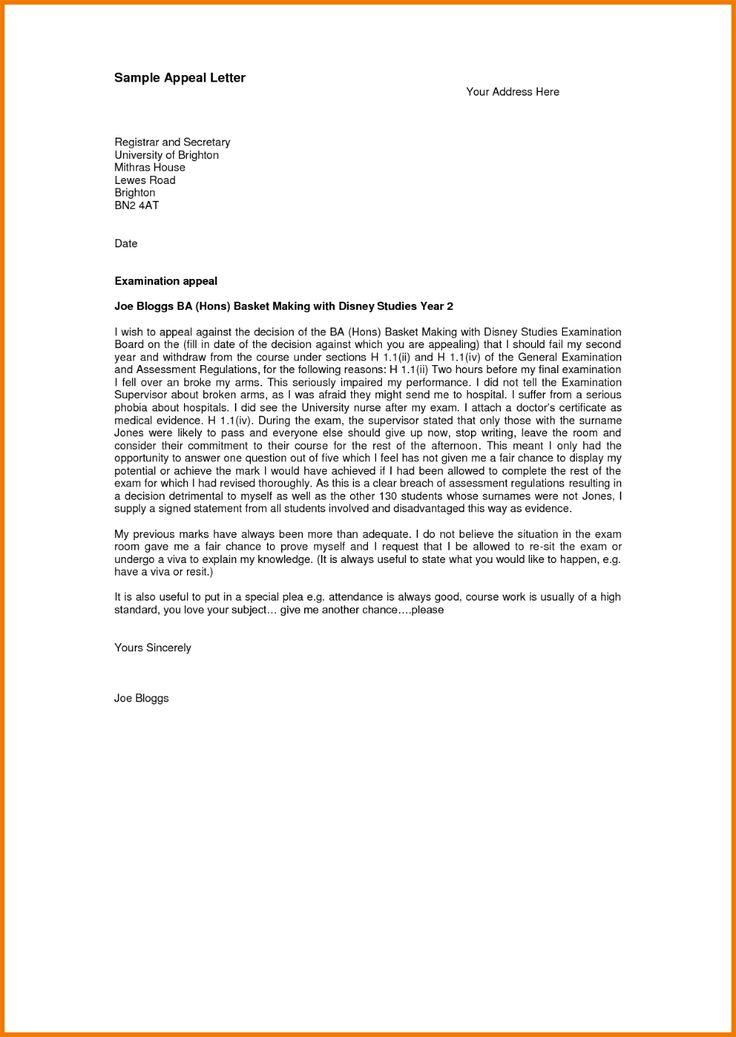 Sample Sap Appeal Letter Geluidinbeeld Pertaining To