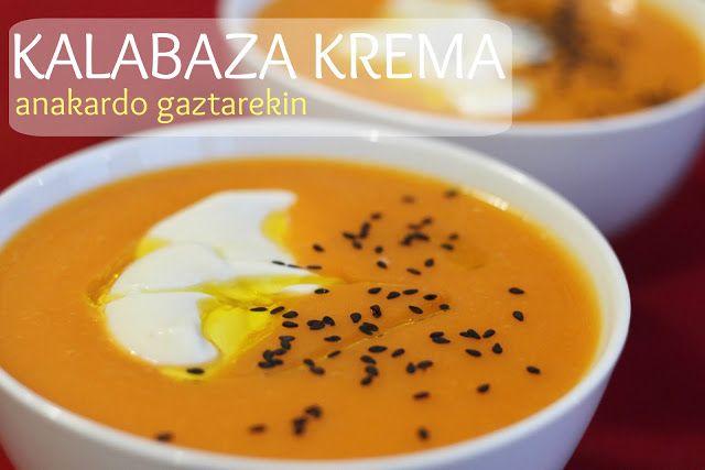KALABAZA KREMA ANAKARDO GAZTAREKIN (CREMA DE CALABAZA CON QUESO DE ANACARDO)