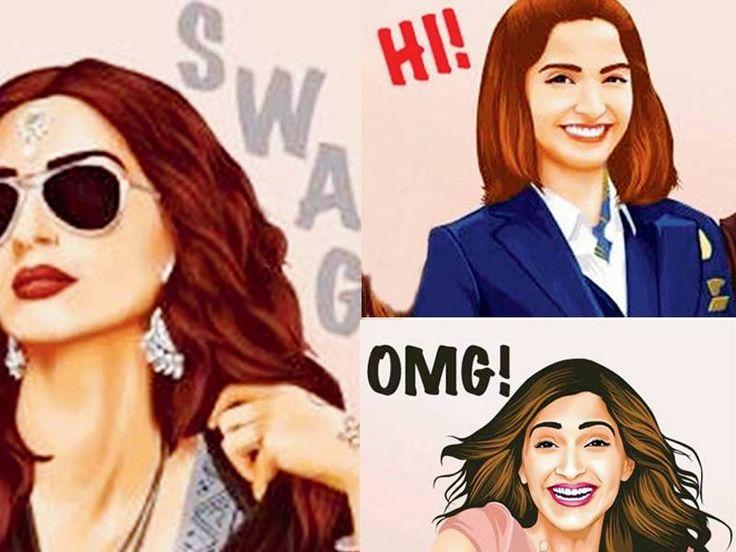 New emojis featuring the 'Neerja' star Sonam Kapoor