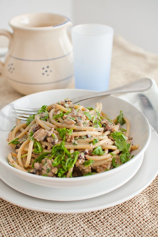 Pasta noci e rucola- Pasta with nuts and arucola