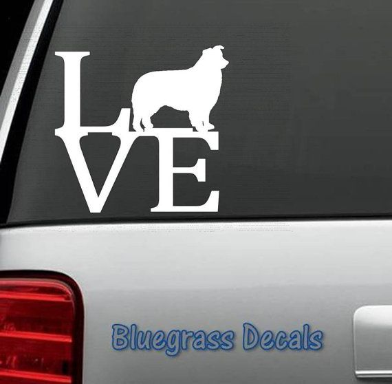 B1006 Border Collie Love Dog Decal Sticker for Car Truck SUV