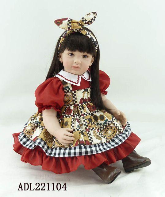 Neue 22 ''55 cm Silikon Vinyl Reborn Baby Puppe Spielzeug Mädchen Brinquedos Lebensechte Spielhaus Spielzeug Kind Kinder Geburtstag Weihnachtsgeschenke