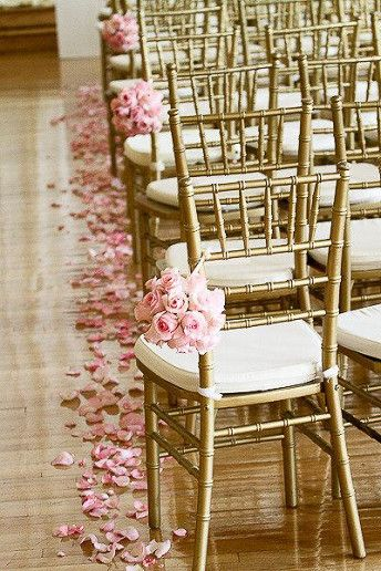 Metallic ceremony chairs are a super smart option look and a great alternative to chair covers