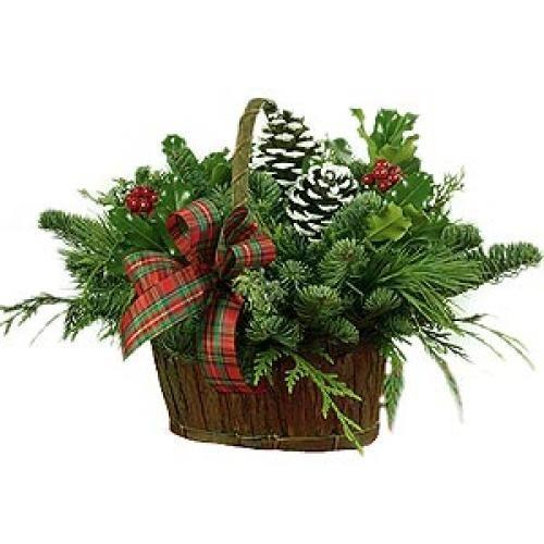 Christmas Foliage Basket