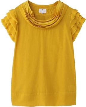 Mustard yellow blouse / ShopStyle: LANVIN en Bleu ブラウス