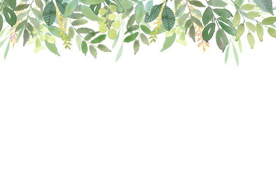 Green Leaves Frames Foliage Clipart Greenery Wedding