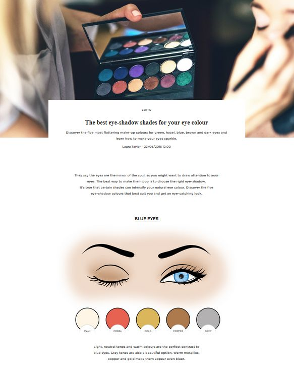The best eye-shadow shades for your eye colour | UNIKSTORE Blog