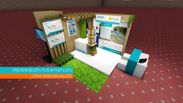 Desain Stand Pameran Pekan Nasional Perubahan Iklim 2017 untuk Booth PT PLN (Persero) pada tanggal 2-4 Agustus 2017 di gedung Manggala Wanabhakti, Jakarta.