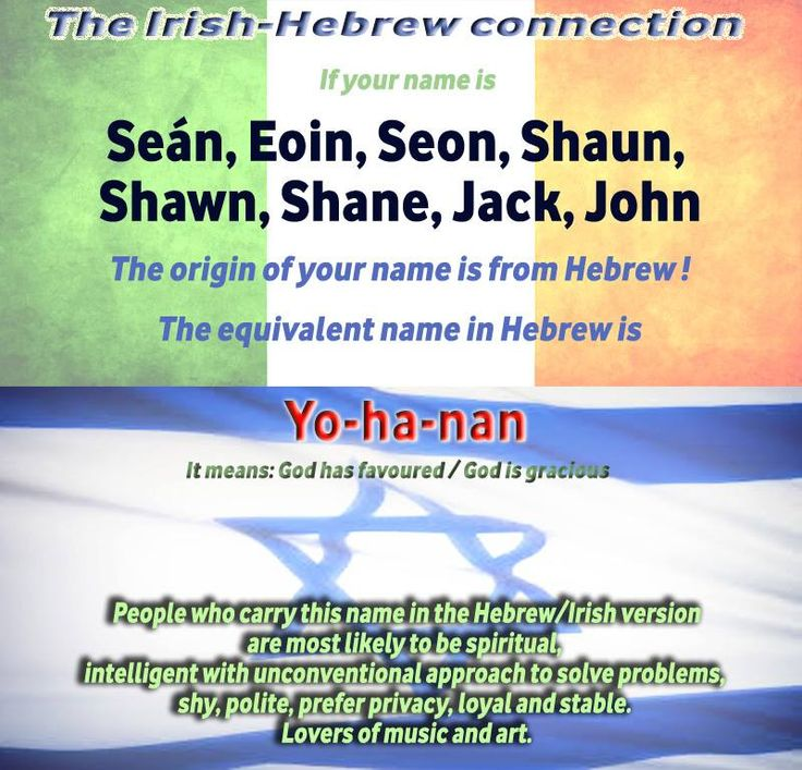 An Irish and Hebrew Connection