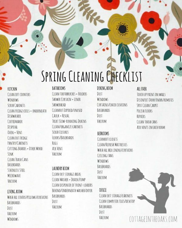Spring Cleaning Checklist Printable with links to favorite products to get your home sparkly clean for the new season!