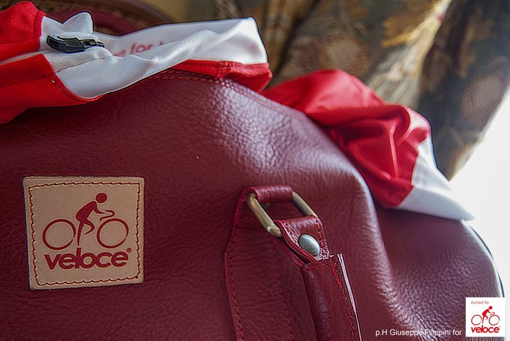 """A detail of """"Velodrome"""" travel bag 100% craftmade in Italy by Veloce Collezioni Leisure. Dimensions of this travel bag are accepted by big number of airline companies, in cm are 50x28x20.  http://www.velocecorporate.com"""