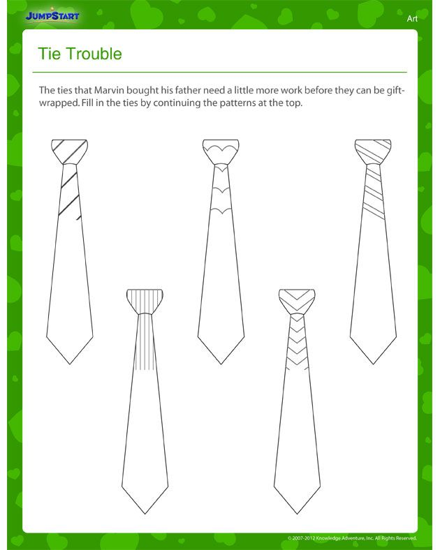 Tie Trouble – Father's Day Worksheet for Kids