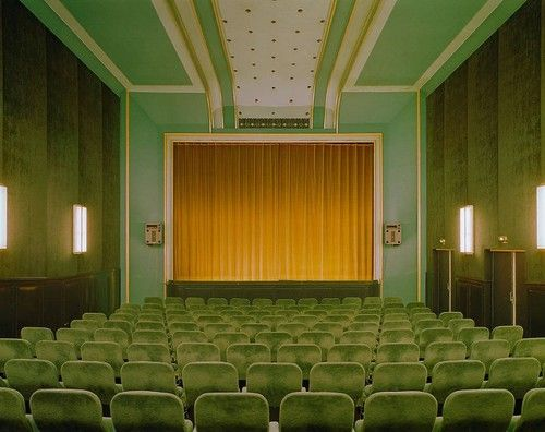 I love this theatre space. Very Wes Anderson.