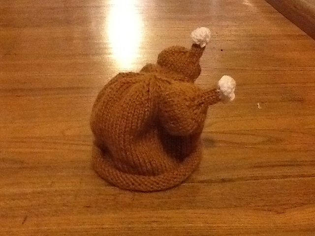 If only I'd seen this pattern before Thanksgiving!  Do you think SB would wear it next year??  Ravelry: cast1on's Baby Turkey Hat