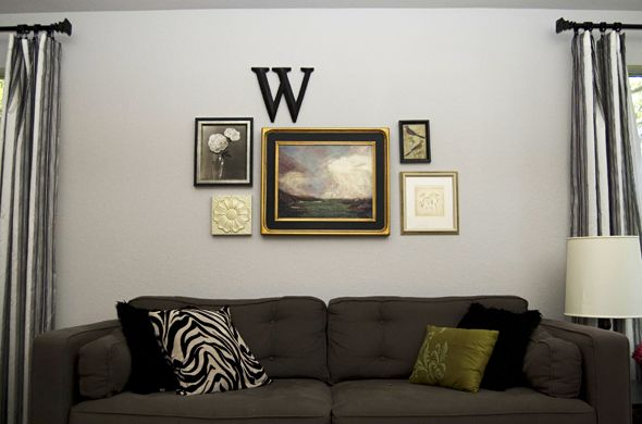 Simple wall arrangement mix of large and small sizes pn - Picture arrangements on walls ...