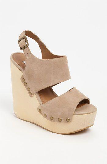 I need nude shoes … Steve Madden 'Auraa' Wedge Sandal | Nordstrom