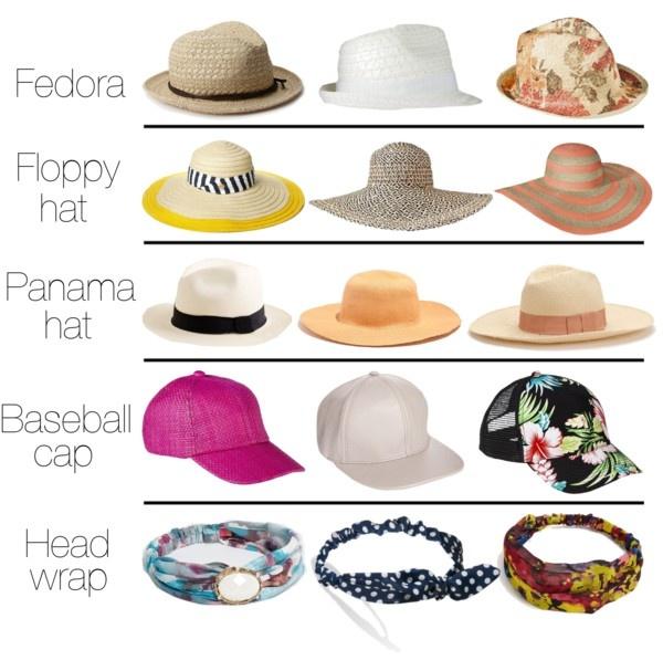 Zomerse #hoeden op een rij