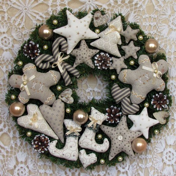 Holiday Wreath Christmas WreathChristmas Gift by ToysAndDreams