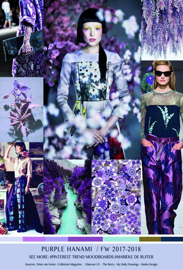 TrendSenses Moodboard Purple Hanami