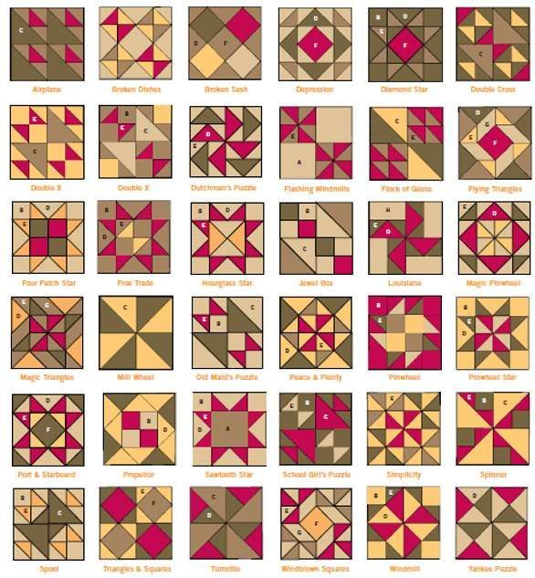 HST quilt block possibilities - Picmia