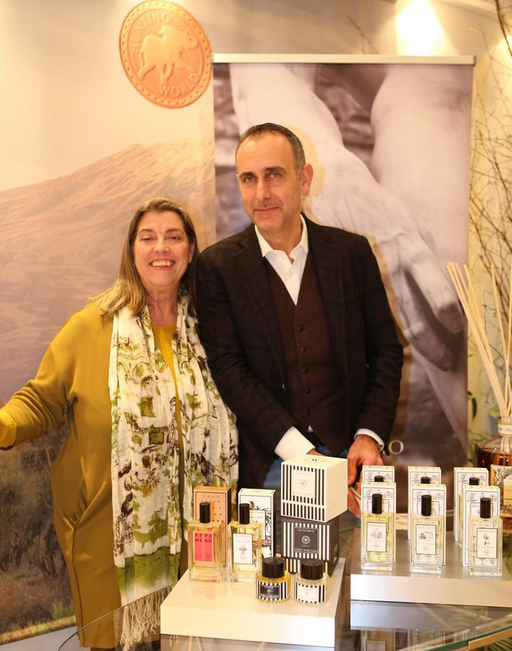 Gisella Innocenti di Baccipress insieme a Rolando Romano, titolare di Wally all'evento Hunting World Firenze.