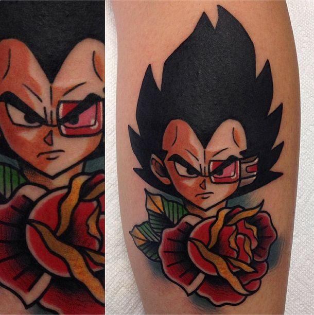 Vegeta tattoo by Adam Perj