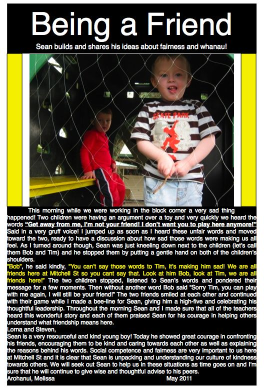 ELP's Kindness Blog: Learning Story