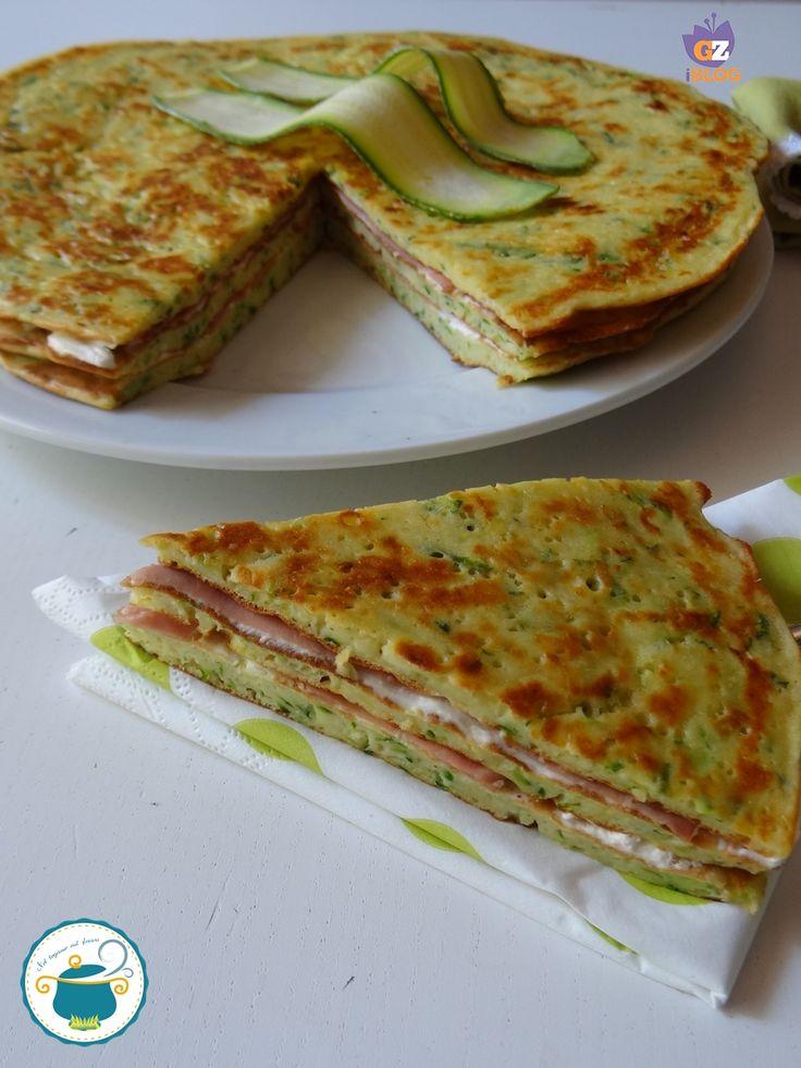 pancake salati di zucchine in tortino