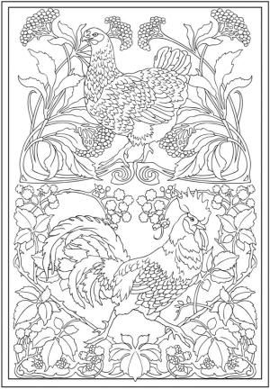 Creative Haven Art Nouveau Animal Designs Coloring Book Dover Publications by Tina Turner♥️➕More Pins Like This At FOSTERGINGER @ Pinterest✖️‬
