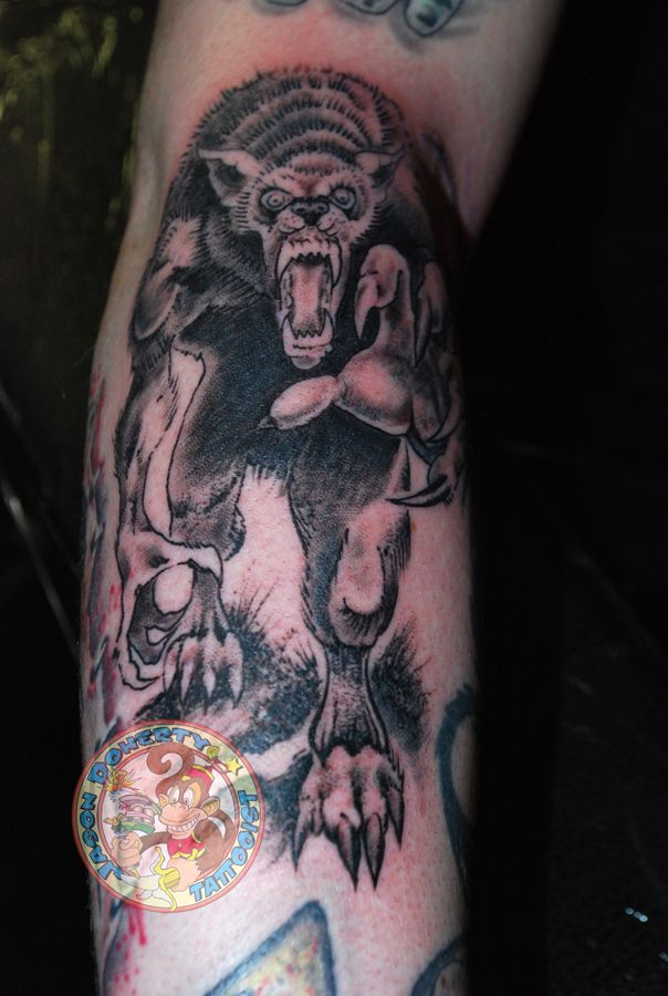 #werewolf #scary #comicbook #tattoo My name is #jason #doherty I am a #Professional #tattoo #artist #tattooist or #tattooer making #amazing #tattoos in #beautiful #Northwest near #Portland #Oregon #USA Whether it be #neotraditional #traditional #scrimshaw #tattoo #blackandgray #sailingship #linework or just a simple #kanji tattoo I try to do my best with EACH tattoo I do regardless of the size or cost.