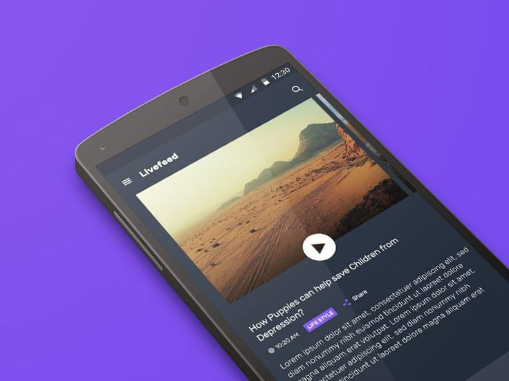 Live News App Concept