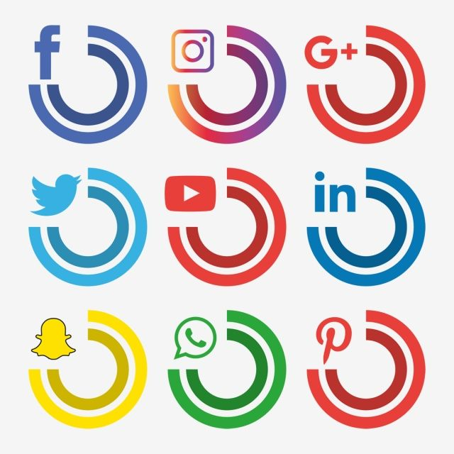 Social Media Icons Set Logo Vector Illustrator Social Icons Logo Icons Media Icons Png And Vector With Transparent Background For Free Download Social Media Icons Social Media Icons Free Social Icons