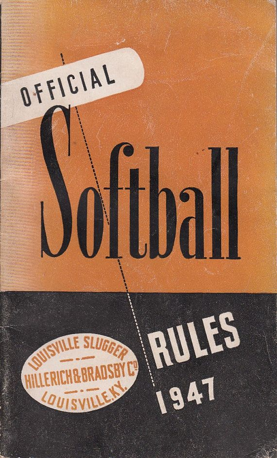 1947 Booklet Official Softball Rules Louisville Slugger Hillerich & Bradsby by QuinsippiMercantile