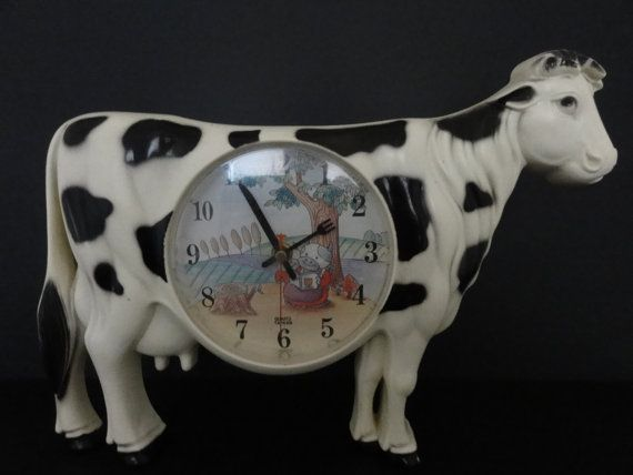 Cow Kitchen Clock By TurtleShellVintage On Etsy