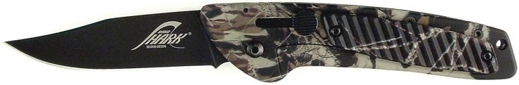RUKO 3-Inch Blade Folding Knife with Plain Edge Shark Lever Action Camouflage Handle. Razor Sharp 440A Stainless Steel 3-Inch Clip-Point Blade, Rust Resistant Non-Glare Oxide Finish, Liner Lock design. Unique Lever Action Design Opens the Blade in a Flash, Easy to open even with Gloves, Camouflage Stainless Steel Handle with matching Rubberized Striated Handle Scale for a sure Grip. Low Profile Stainless Steel Pocket Clip for secure carry, Super slim design won't bulk-up in your Pocket....