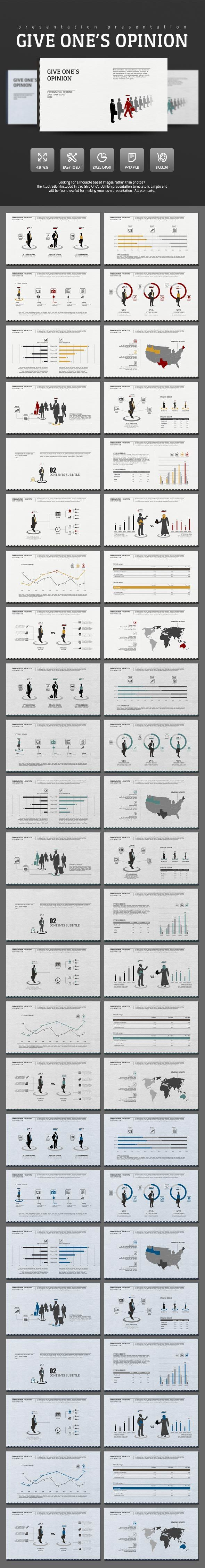 Give Opinion - PowerPoint Presentation Template #slides Download here: http://graphicriver.net/item/give-opinion/14622045?ref=ksioks