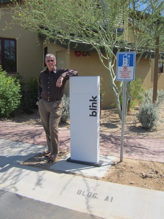 Blink! Electric Car Charging Station is installed at the HB Corporate Office 2012. #WhyHB