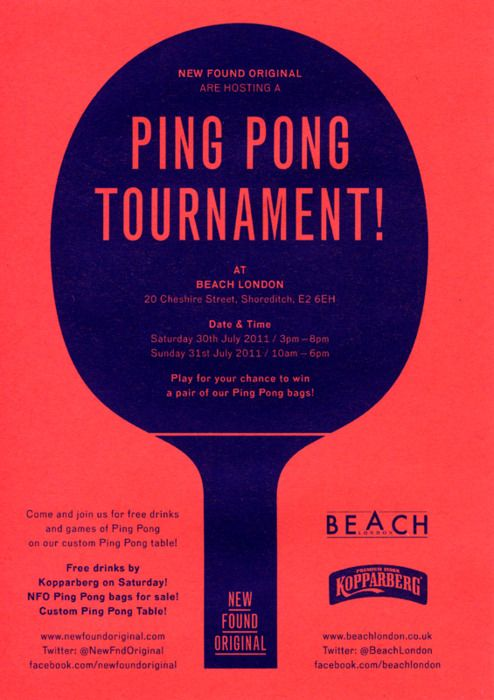 """Affiche """"Ping Pong Tournament"""""""