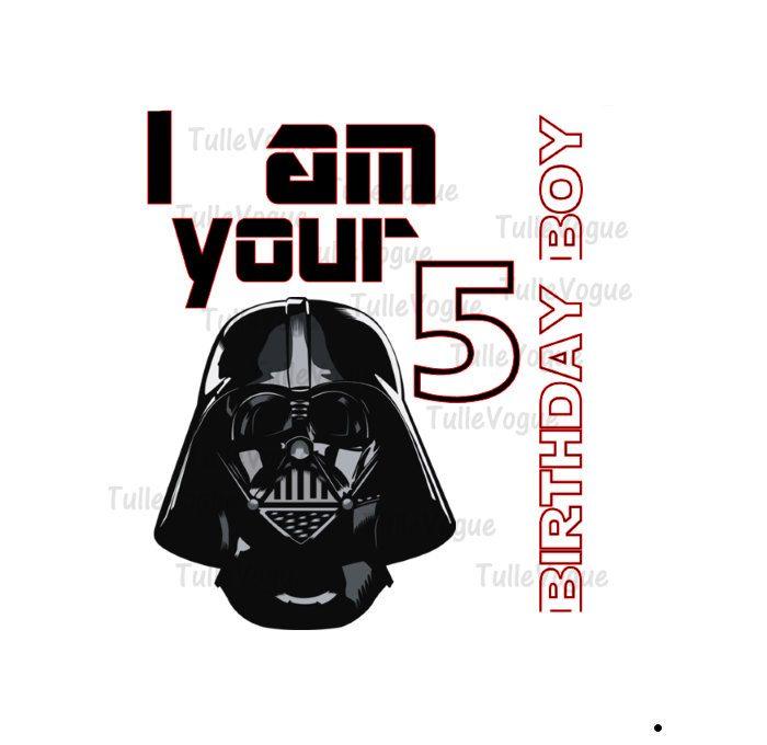 Custom Darth Vader Star Wars IRON ON - heat transfer - star wars shirt - Darth Vader by TulleVogue on Etsy