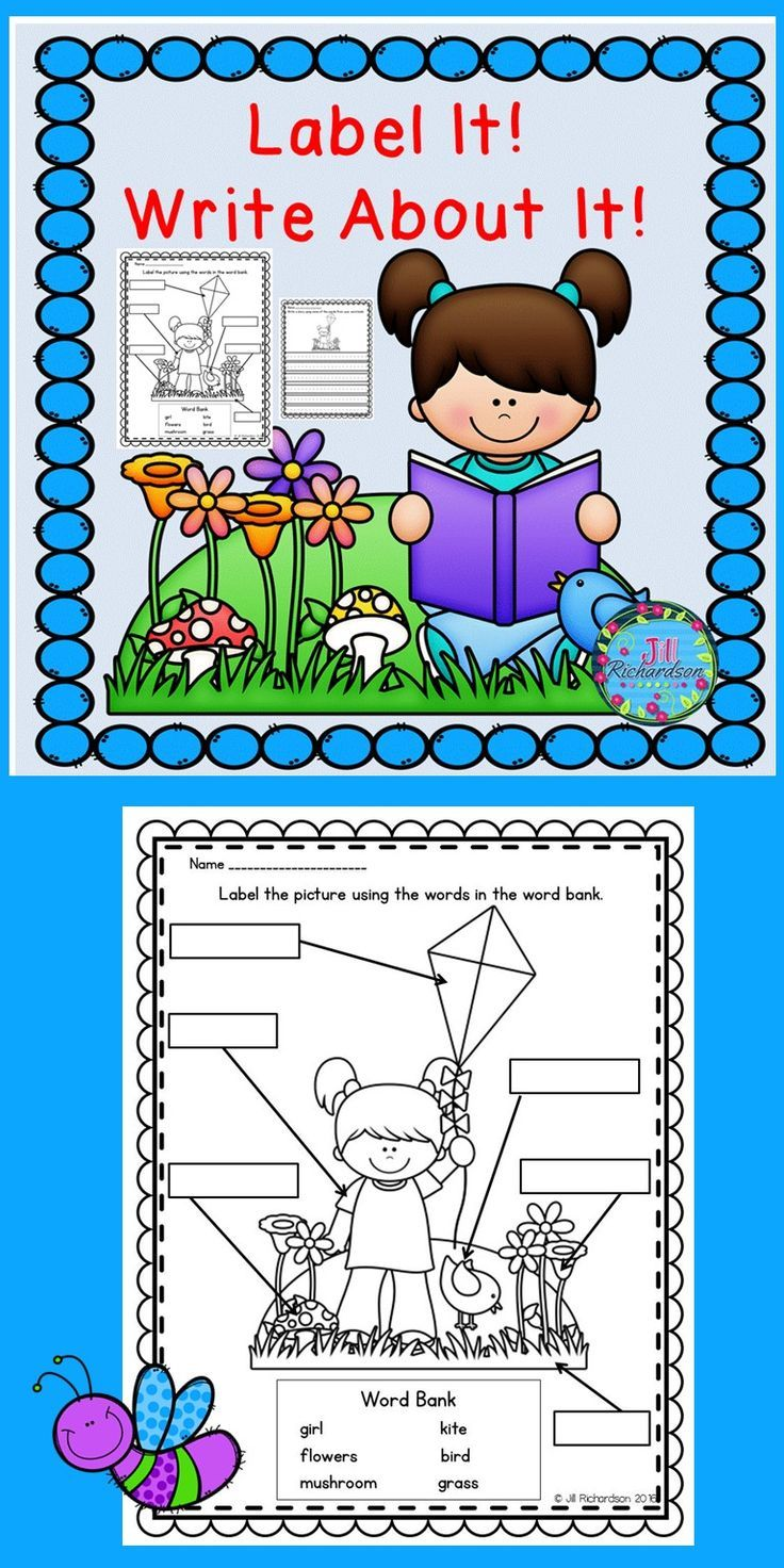This labeling and writing activity is great for kindergartners, first graders, and English Language Learners and can be used in a writing literacy center, small group, whole group or as morning work.  TAKE A PREVIEW PEEK! Includes: 10 Label It Summer and Spring Themed Printables 10 Write About It Summer and Spring Themed Printables  Have your children label the picture using the words from the word bank. Next have them write a story using as many words as they can from the word bank.
