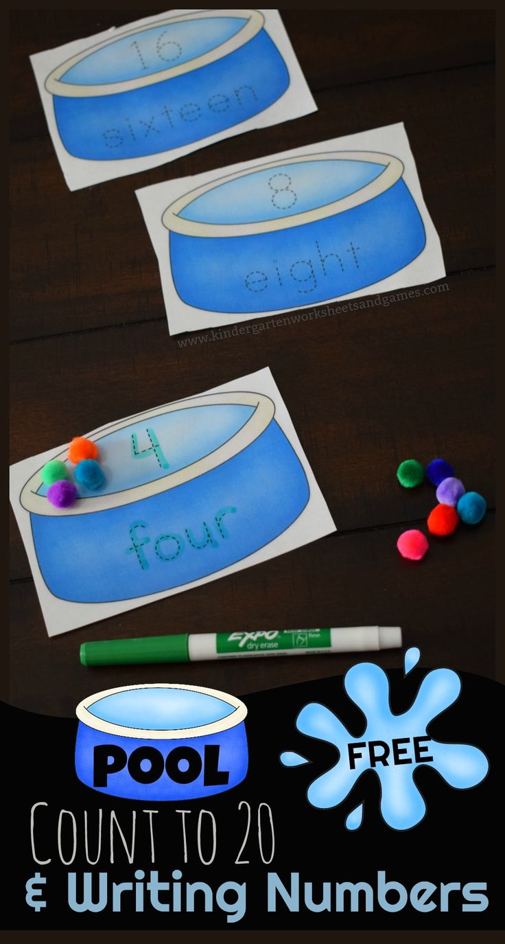 free printable funny0th birthday invitations%0A Free Pool Writing Numbers  u     Counting to     This is a fun  LOW PREP  free  printable to help preschool  kindergarten  and first grade kids practice  counting