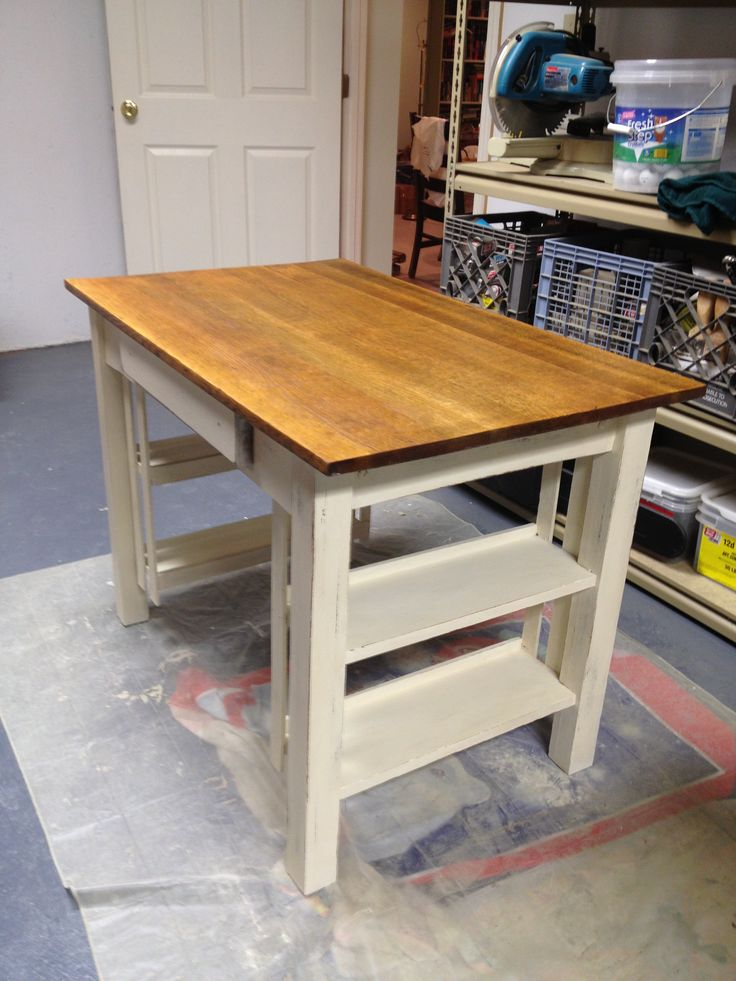 Mission Desk Painted With Annie Sloan Chalk Paint. Old White With Stained  Top In Special