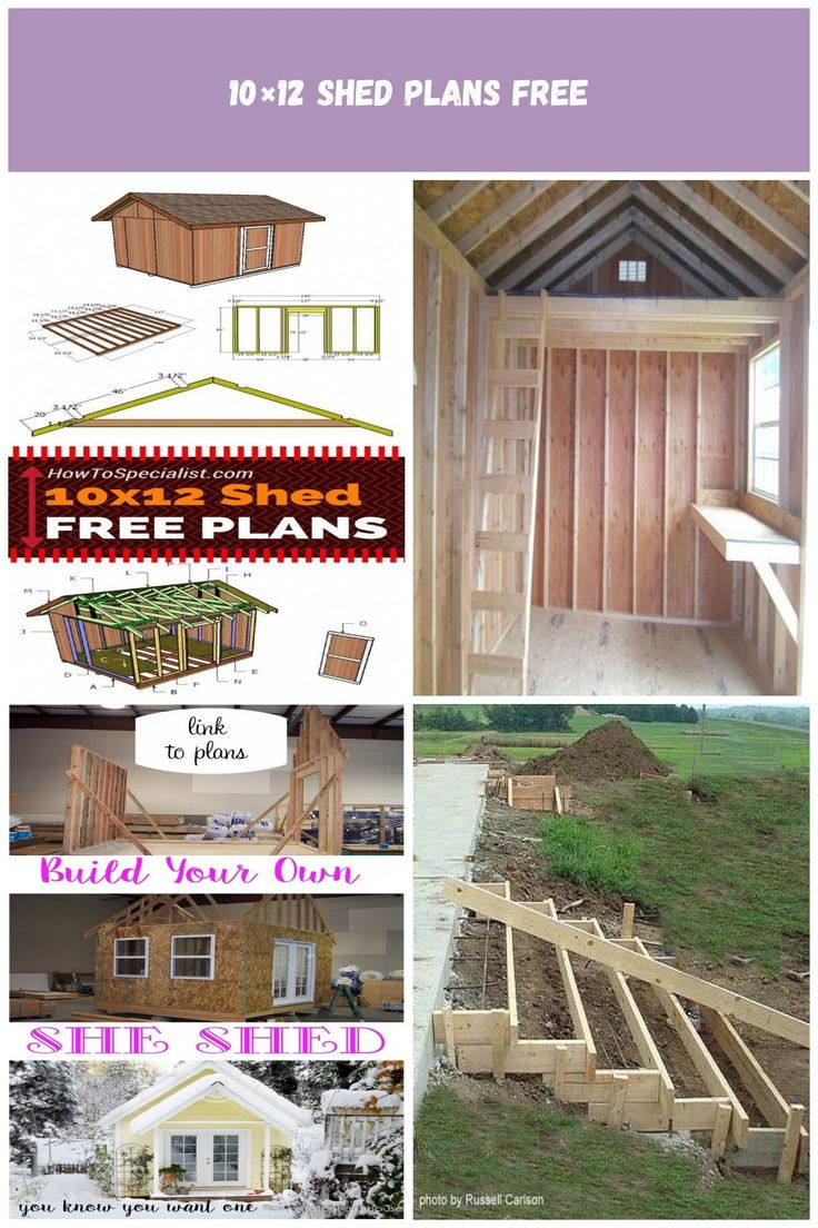 Learn how to build a 10x12 shed with my free and step by