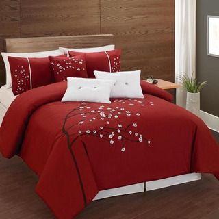 Lauren Taylor Rosso 6 Piece Comforter Set