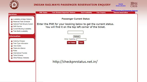 PNR status of your Indian Railways or IRCTC booking can be checked online easily! Enter the 10-digit PNR (Passenger Name Record) click and number on the Check PNR Status button. You will find the PNR number on the top left corner of the ticket. Passengers can check the status of reservations on the various zones like Northern Railway, Central Railway, Southern Railway etc using this interface.