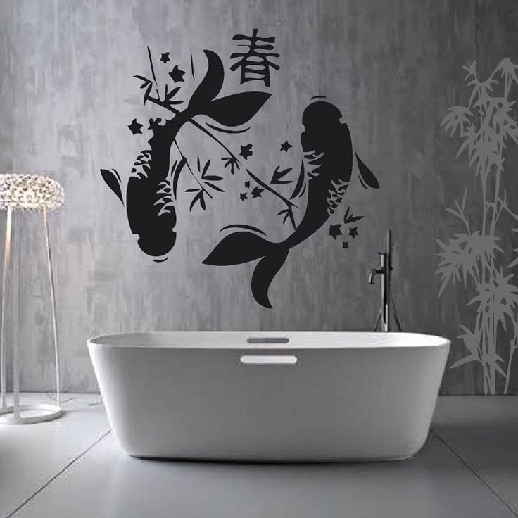 129 best images about animal designs on pinterest for Koi fish wall stickers