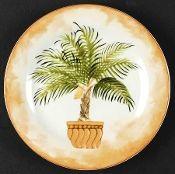 American Atelier Tropical Palms Salad Plate Set