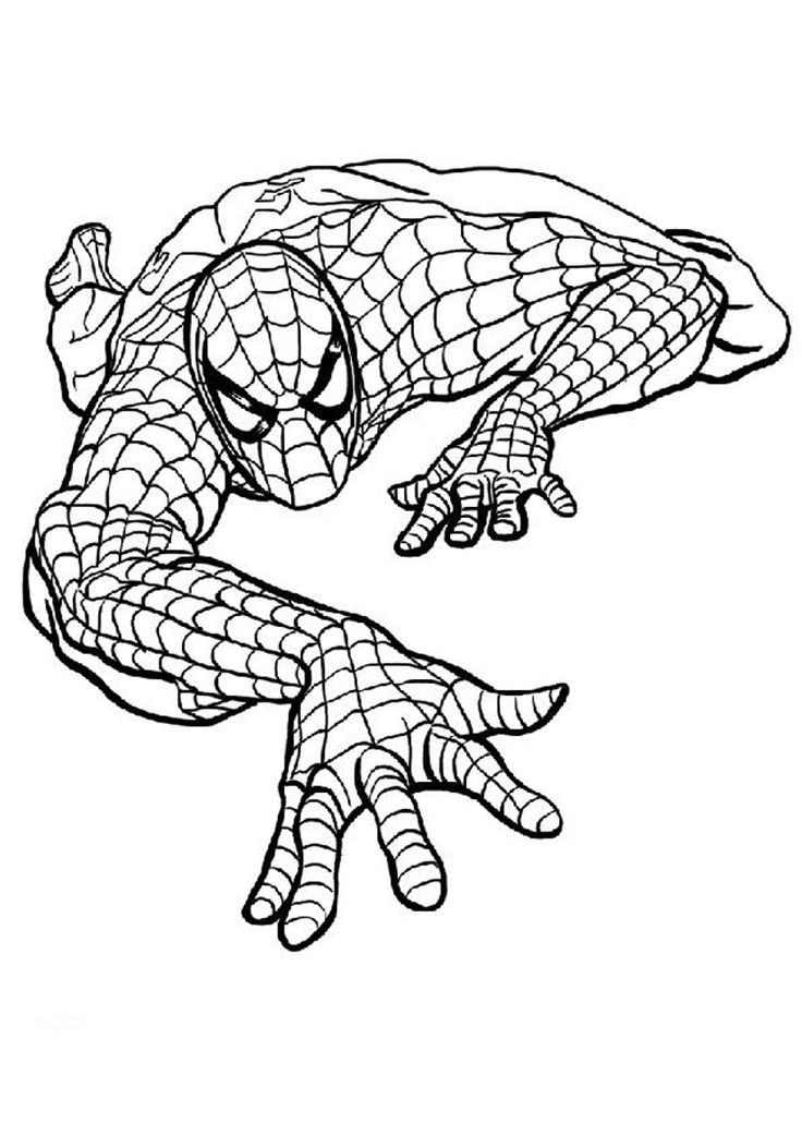 several printable spider man coloring pages