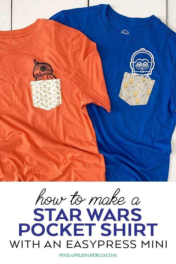 Star Wars Custom Pocket Shirts Easypress Mini Pineapple Paper Co Pocket Shirt Design Cricut Iron On Vinyl Southern Shirts
