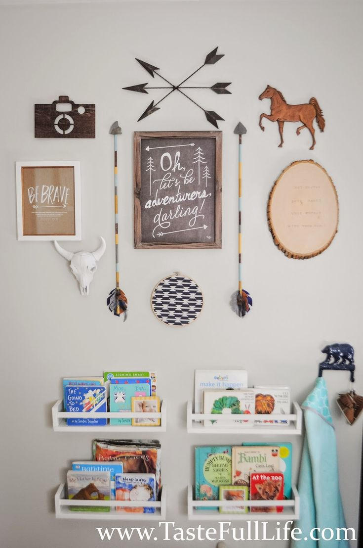 Taste{Full}: Dax's Little Explorer Nursery. Gallery Wall. Adventure Theme.